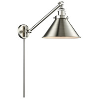Innovations Lighting 237-SN-M10-SN Briarcliff 21 inch 60 watt Brushed Satin Nickel Swing Arm Wall Light