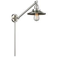 Railroad 1 Light 8 inch Satin Brushed Nickel Wall Sconce Wall Light
