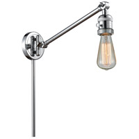 Innovations Lighting 237NH-PC Bare Bulb 21 inch 60.00 watt Polished Chrome Swing Arm Wall Light, Franklin Restoration