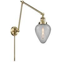 Innovations Lighting 238-AB-G165 Geneseo 30 inch 60.00 watt Antique Brass Swing Arm Wall Light Franklin Restoration