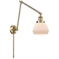 Innovations Lighting 238-AB-G171 Fulton 30 inch 60.00 watt Antique Brass Swing Arm Wall Light Franklin Restoration