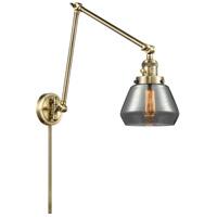 Innovations Lighting 238-AB-G173 Fulton 30 inch 60.00 watt Antique Brass Swing Arm Wall Light Franklin Restoration
