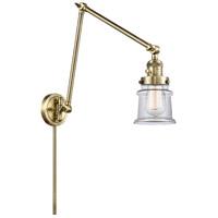 Innovations Lighting 238-AB-G182S Small Canton 30 inch 60.00 watt Antique Brass Swing Arm Wall Light Franklin Restoration