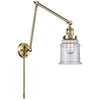 Innovations Lighting 238-AB-G184 Canton 30 inch 60.00 watt Antique Brass Swing Arm Wall Light Franklin Restoration