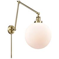 Innovations Lighting 238-AB-G201-12 XX-Large Beacon 34 inch 60.00 watt Antique Brass Swing Arm Wall Light