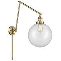 Innovations Lighting 238-AB-G202-10 Extra Large Beacon 32 inch 60.00 watt Antique Brass Swing Arm Wall Light