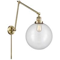 Innovations Lighting 238-AB-G202-12 XX-Large Beacon 34 inch 60.00 watt Antique Brass Swing Arm Wall Light