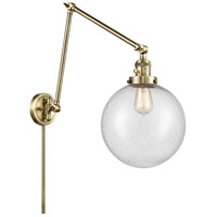 Innovations Lighting 238-AB-G204-10 Extra Large Beacon 32 inch 60.00 watt Antique Brass Swing Arm Wall Light