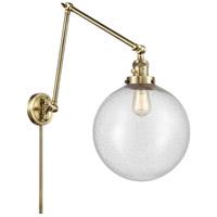 Innovations Lighting 238-AB-G204-12 XX-Large Beacon 34 inch 60.00 watt Antique Brass Swing Arm Wall Light