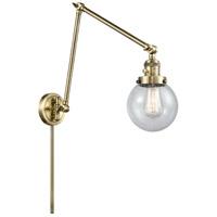 Innovations Lighting 238-AB-G204-6 Beacon 30 inch 60.00 watt Antique Brass Swing Arm Wall Light Franklin Restoration