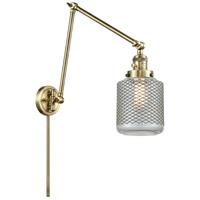 Innovations Lighting 238-AB-G262 Stanton 30 inch 60.00 watt Antique Brass Swing Arm Wall Light Franklin Restoration