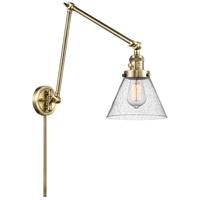 Innovations Lighting 238-AB-G44 Large Cone 30 inch 60.00 watt Antique Brass Swing Arm Wall Light Franklin Restoration