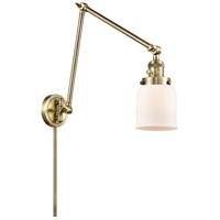 Innovations Lighting 238-AB-G51 Small Bell 30 inch 60.00 watt Antique Brass Swing Arm Wall Light Franklin Restoration