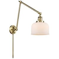 Innovations Lighting 238-AB-G71 Large Bell 30 inch 60.00 watt Antique Brass Swing Arm Wall Light Franklin Restoration