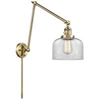 Innovations Lighting 238-AB-G72 Large Bell 30 inch 60.00 watt Antique Brass Swing Arm Wall Light Franklin Restoration