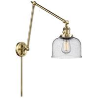 Innovations Lighting 238-AB-G74 Large Bell 30 inch 60.00 watt Antique Brass Swing Arm Wall Light Franklin Restoration