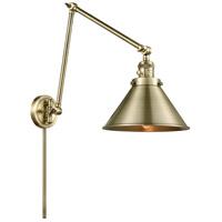Innovations Lighting 238-AB-M10-AB Briarcliff 30 inch 60.00 watt Antique Brass Swing Arm Wall Light Franklin Restoration