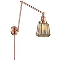 Innovations Lighting 238-AC-G146 Chatham 30 inch 60.00 watt Antique Copper Swing Arm Wall Light Franklin Restoration