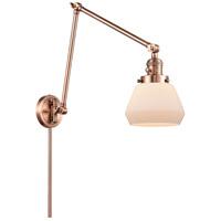 Innovations Lighting 238-AC-G171 Fulton 30 inch 60.00 watt Antique Copper Swing Arm Wall Light Franklin Restoration