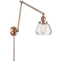 Innovations Lighting 238-AC-G172 Fulton 30 inch 60.00 watt Antique Copper Swing Arm Wall Light Franklin Restoration