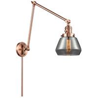 Innovations Lighting 238-AC-G173 Fulton 30 inch 60.00 watt Antique Copper Swing Arm Wall Light Franklin Restoration
