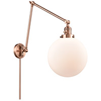 Innovations Lighting 238-AC-G201-10 Extra Large Beacon 32 inch 60.00 watt Antique Copper Swing Arm Wall Light