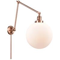 Innovations Lighting 238-AC-G201-12 XX-Large Beacon 34 inch 60.00 watt Antique Copper Swing Arm Wall Light