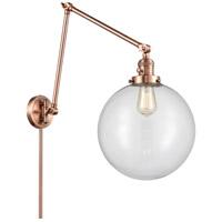 Innovations Lighting 238-AC-G202-12 XX-Large Beacon 34 inch 60.00 watt Antique Copper Swing Arm Wall Light