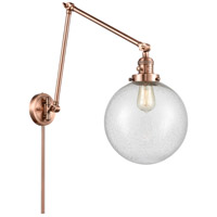 Innovations Lighting 238-AC-G204-10 Extra Large Beacon 32 inch 60.00 watt Antique Copper Swing Arm Wall Light