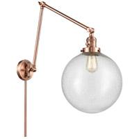 Innovations Lighting 238-AC-G204-12 XX-Large Beacon 34 inch 60.00 watt Antique Copper Swing Arm Wall Light
