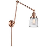 Innovations Lighting 238-AC-G54 Small Bell 30 inch 60.00 watt Antique Copper Swing Arm Wall Light Franklin Restoration