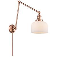 Innovations Lighting 238-AC-G71 Large Bell 30 inch 60.00 watt Antique Copper Swing Arm Wall Light Franklin Restoration
