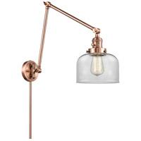 Innovations Lighting 238-AC-G72 Large Bell 30 inch 60.00 watt Antique Copper Swing Arm Wall Light Franklin Restoration