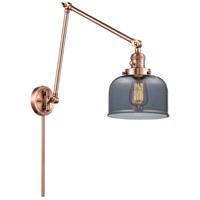 Innovations Lighting 238-AC-G73 Large Bell 30 inch 60.00 watt Antique Copper Swing Arm Wall Light, Franklin Restoration