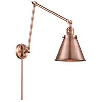 Innovations Lighting 238-AC-M13-AC Appalachian 30 inch 60.00 watt Antique Copper Swing Arm Wall Light, Franklin Restoration