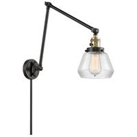 Innovations Lighting 238-BAB-G172 Fulton 30 inch 60.00 watt Black Antique Brass Swing Arm Wall Light Franklin Restoration