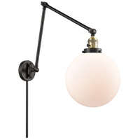 Innovations Lighting 238-BAB-G201-10 Extra Large Beacon 32 inch 60.00 watt Black Antique Brass Swing Arm Wall Light