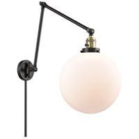 Innovations Lighting 238-BAB-G201-12 XX-Large Beacon 34 inch 60.00 watt Black Antique Brass Swing Arm Wall Light