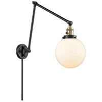 Innovations Lighting 238-BAB-G201-8 Large Beacon 30 inch 60.00 watt Black Antique Brass Swing Arm Wall Light Franklin Restoration