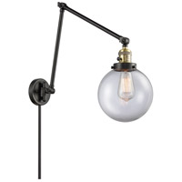 Innovations Lighting 238-BAB-G202-8 Large Beacon 30 inch 60.00 watt Black Antique Brass Swing Arm Wall Light Franklin Restoration
