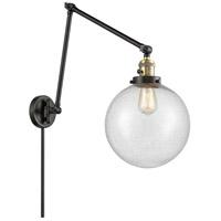 Innovations Lighting 238-BAB-G204-10 Extra Large Beacon 32 inch 60.00 watt Black Antique Brass Swing Arm Wall Light