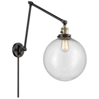 Innovations Lighting 238-BAB-G204-12 XX-Large Beacon 34 inch 60.00 watt Black Antique Brass Swing Arm Wall Light