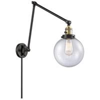 Innovations Lighting 238-BAB-G204-8 Large Beacon 30 inch 60.00 watt Black Antique Brass Swing Arm Wall Light Franklin Restoration