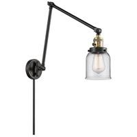 Innovations Lighting 238-BAB-G52 Small Bell 30 inch 60.00 watt Black Antique Brass Swing Arm Wall Light Franklin Restoration