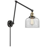 Innovations Lighting 238-BAB-G72 Large Bell 30 inch 60.00 watt Black Antique Brass Swing Arm Wall Light Franklin Restoration