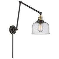 Innovations Lighting 238-BAB-G74 Large Bell 30 inch 60.00 watt Black Antique Brass Swing Arm Wall Light Franklin Restoration