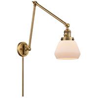 Innovations Lighting 238-BB-G171 Fulton 30 inch 60.00 watt Brushed Brass Swing Arm Wall Light Franklin Restoration