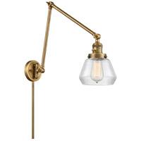 Innovations Lighting 238-BB-G172 Fulton 30 inch 60.00 watt Brushed Brass Swing Arm Wall Light Franklin Restoration