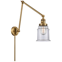 Innovations Lighting 238-BB-G182 Canton 30 inch 60.00 watt Brushed Brass Swing Arm Wall Light, Franklin Restoration