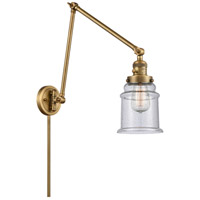 Innovations Lighting 238-BB-G184 Canton 30 inch 60.00 watt Brushed Brass Swing Arm Wall Light, Franklin Restoration